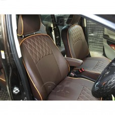 Чехлы Toyota Sienta 2015-> на 2 ряда Автокомфорт