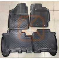 Коврики в салон Toyota Ractis 2010-2016 2WD с бортом (полиуретан)