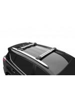 Багажник поперечины для автомобилей с рейлингами Lux Хантер L44-R серебристые