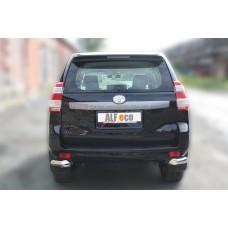 Защита задняя уголки одинарные D 76,1 Land Cruiser Prado 150 2014-2017