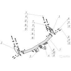 Фаркоп Bosal для Ford Ecosport 2014-