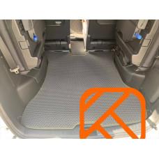 Коврик в багажник + 3 ряд EVA  Nissan Serena 27 2016->