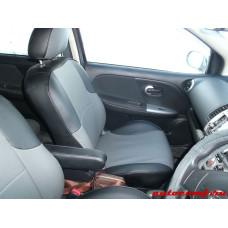Чехлы из экокожи Nissan Note 2005-2012 правый руль