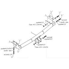 Фаркоп для Toyota Allex \ Runx 2001-2006
