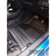 Кожаные коврики 3D для Toyota Aqua 2011- правый руль