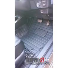 Кожаные 3D коврики в салон для Toyota Fielder 160 2012-