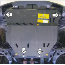 Защита картера и кпп Mazda MPV 1999-2006 , 2 мм, Сталь