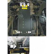 Стальная защита на Двигатель, Передний дифференциал, КПП для NISSAN NP300 2008-