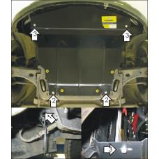 Защита картера и кпп Mazda Demio 2003-2005 на Двигатель, КПП 2 мм, Сталь