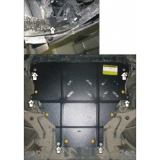 Защита картера и КПП Ford Kuga 2013-  2 мм, Сталь