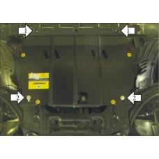Стальная защита на Двигатель, КПП для NISSAN Qashqai 2007-2014