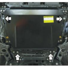 Защита стальная Мотодор на Двигатель, КПП для Lexus NX 200 2014-