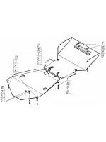 Защита ДВС, кпп, пер. диф., радиатора  Land Cruiser 100 дизель сталь 3мм