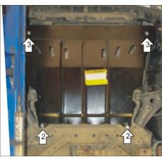 Защита картера и кпп Ford Ecosport 2014-  2 мм, Сталь