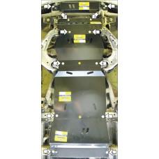 Защита картера, переднего диф-ла, кпп, раздатки Mazda BT-50 2006-2011,  2 мм, Сталь