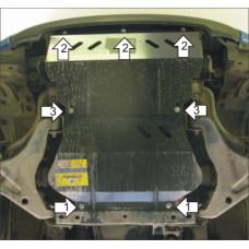 Защита двигателя, радиатора, пер. диф. MITSUBISHI L 200 2006-2015 сталь 2мм