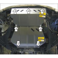 Защита двигателя, пер. диф., радиатора, для MITSUBISHI L 200 2006-2015 сталь 3мм