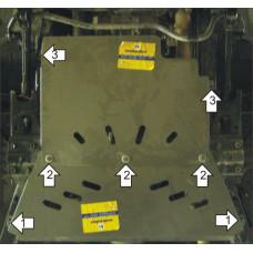 Стальная защита на КПП, Раздаточную коробку для NISSAN Patrol 2003-2009