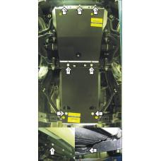 Защита двигателя, передний диф., КПП для TOYOTA Land Cruiser Prado 150 2009- (Объем 2.7; 3.0) сталь 3мм