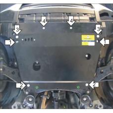 Стальная защита MOTODOR на Двигатель, КПП для TOYOTA Highlander 2010-2014