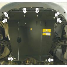Защита стальная Мотодор на Двигатель, КПП для SUZUKI Sx4 2006-2013