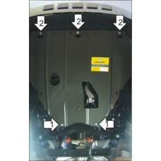 Защита картера и КПП Ford Kuga 2008-2013  2 мм, Сталь