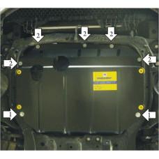 Защита картера и кпп KIA Cerato 2009-2013  2 мм, Сталь