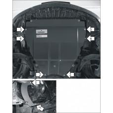 Защита картера и кпп Mazda 3 (Axela) 2003-2009  2 мм, Сталь