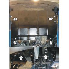 Защита картера и КПП Ford Transit 2013-  2 мм, Сталь