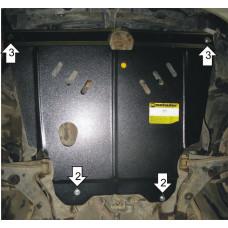 Стальная защита двигателя и кпп TOYOTA Corolla 1995-2000  MOTODOR
