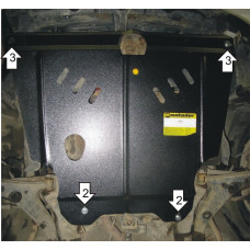 Стальная защита MOTODOR на Двигатель, КПП для TOYOTA Sprinter Carib 1995-2001