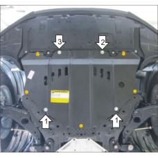 Защита картера и кпп Mazda CX-5 2011- , КПП 2 мм, Сталь
