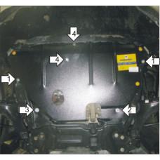 Защита картера Мотодор для Ford S-max 2006-  2 мм, Сталь
