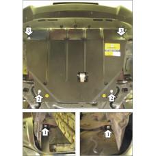 Защита картера и кпп Hyundai ix35 2010- 2 мм, Сталь Мотодор