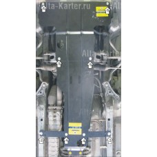 Защита картера и КПП для TOYOTA Mark II 2000-2004 задний привод.