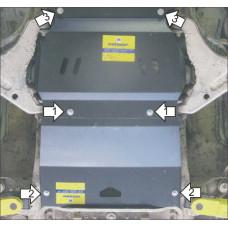 Защита картера и КПП MITSUBISHI Pajero Sport II 2008-2011, сталь 3мм. Мотодор