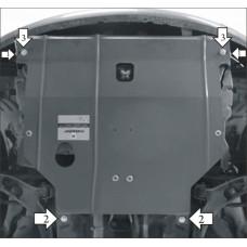 Стальная защита на Двигатель, КПП для NISSAN Almera Classic 2006-2012
