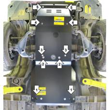 Защита двигателя и кпп TOYOTA Hilux 2005-2015 сталь 3мм