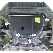 Защита картера и КПП Ford Mondeo IV 2010-2015  2 мм, Сталь