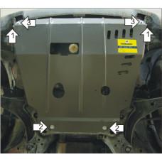 Защита картера и кпп Mazda Tribute 2001-2007 , 2 мм, Сталь