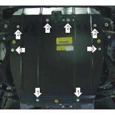 Защита картера и кпп Hyundai Santa Fé II 2006-2012    2 мм, Сталь