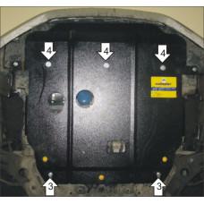 Защита картера Мотодор для Hyundai Elantra 2010-2014 на Двигатель, КПП 2 мм, Сталь