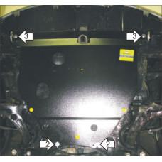 Стальная защита двигателя и кпп TOYOTA Corolla 120 2000-2006 MOTODOR