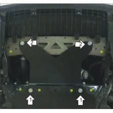Защита стальная двигателя для Lexus GS 350 2012-
