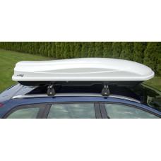 Автобокс Amos 500л белый глянец на крышу 210x77x32см