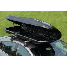 Автобокс Amos 500л черный глянец на крышу 210x77x32см