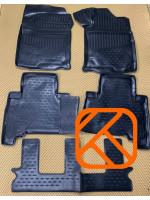Коврики в салон TOYOTA Land Cruiser Prado 150 2009-2020 Правый руль(полиуретан)