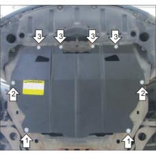 Защита картера и кпп Mazda Atenza  2007-2012,  2 мм, Сталь