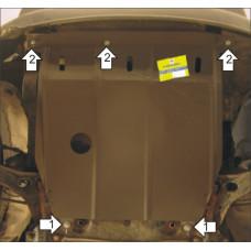 Защита картера и КПП Ford Tourneo Connect 2010-2013  2 мм, Сталь
