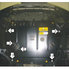 Защита картера, КПП для Lexus RX 400h 2005-2008 сталь 2мм